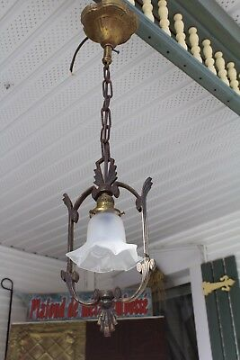 Art Deco Ceiling Light Fixture , Entry , Hall , Porch , Ornate , Pendant Light