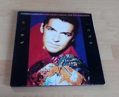 Thomas Anders *Modern Talking*, original signiertes LP-Cover  *The Sweet Hello*