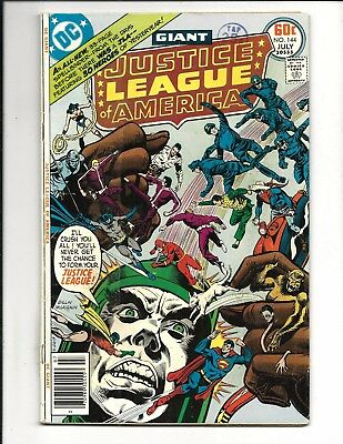 Justice League Of America # 144 (Giant Size, July 1977), Fn