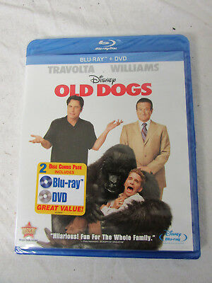 New Sealed Blu-Ray Bluray Blu Ray + DVD 2 Disc Combo Pack Disney Old Dogs