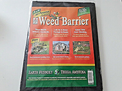 Weed Barrier All Purpose 4x8 Black Garden Fabric Easy Gardener