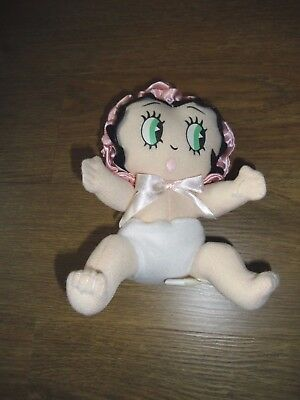 Betty Boop Baby Doll Plush Soft Cute Light Diaper Pink Bonnet 6""
