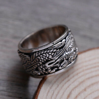 Valknut Odin 's 925 Sterling Silver Ring Norse Symber Dragons Viking Jewelry