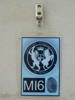 HALLOWEEN COSTUME MOVIE PROP - ID/Security Badges (MI6 Badge),