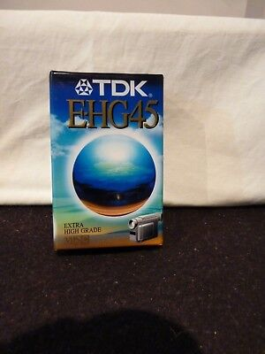 TDK EHG 45 Compact Video Cassette - Brand New - X 3