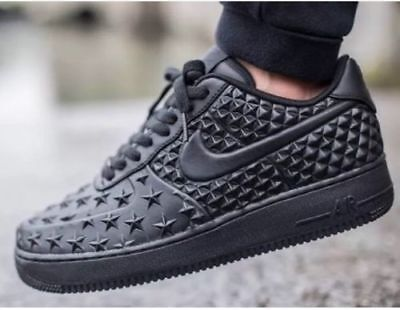 Nike Air Force 1 LV8 VT STAR Independence Day Triple Black 789104-001 Size ( 9 )