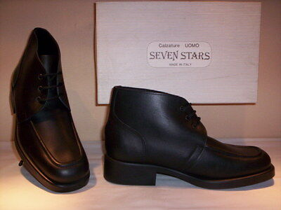 Classic shoes boots vintage Seven Stars man desert boots leather black n 43