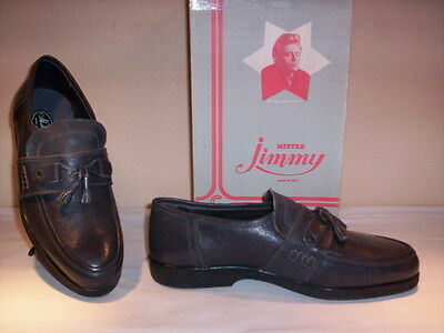 Classic shoes loafers vintage Mister Jimmy man shoes men grey leather no 44