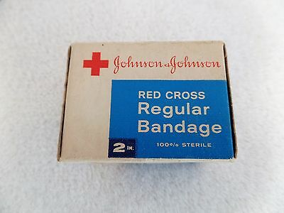 "Vintage Johnson & Johnson Red Cross Regular 2"" Bandage - Unopened Box"