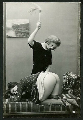 French OSTRA Studio NUDE Two FEMMES Submissive POSE #3 1920s ~ PARIS Latest!