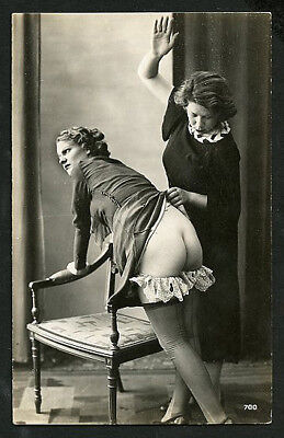 French OSTRA Studio NUDE Two FEMMES Submissive POSE #2 1920s ~ PARIS Latest!