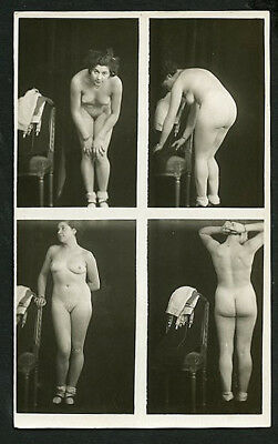 French Studio Youthful NUDES Four PHOTO Composit IMAGE 1920s ~ PARIS Latest!