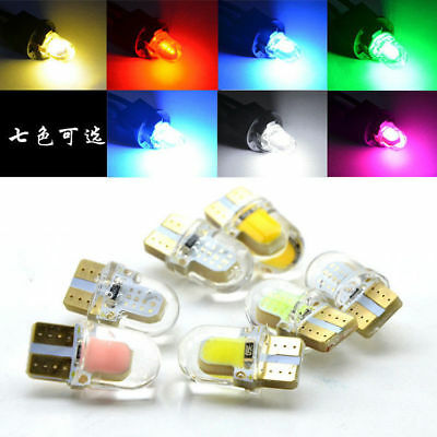 50PCS Colorful T10 194 168 W5W COB 8SMD LED Silica License Light Bulbs White Red