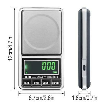 Portable 1000g x 0.1g Digital Mini Scale Jewelry Pocket Balance Weight Gram LCD