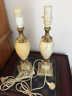 Pair Of Marble Lamps Pick Up Brisbane