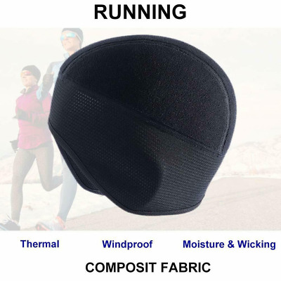 Outdoor Sports Hat Men Fleece Thermal Winter Cycling Running Black Ear Warm  Cap 9e589a6de57