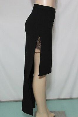 178 NEW BCBG MAX AZRIA SKIRT ADRIENNE  Asymmetric angles SZ 2 BLACK