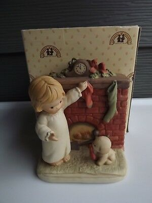 "Enesco Memories Of Yesterday ""For Fido And Me"" #522457 Musical Figurine IOB"