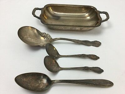 Vintage Silver & Silver Plate-Mixed Lot-Serving Accessories-Wm. Rogers