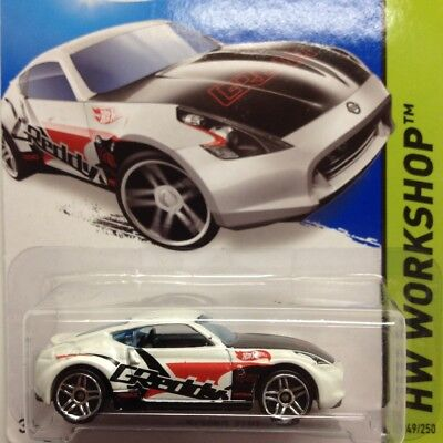 NEW Hot Wheels Nissan 370Z 2014 No 249 White Genuine Sealed GReddy Long Card