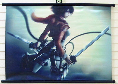 Shingeki no Kyojin Attack on Titan Anime Manga Wallscroll Stoffposter 57x41cm