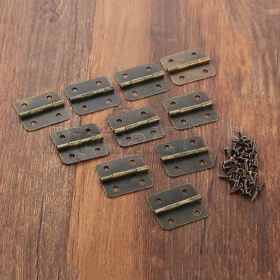 Retro Furniture Door Hinges Cabinet Drawer Jewelry Box Dollhouse Hinges 30*25mm