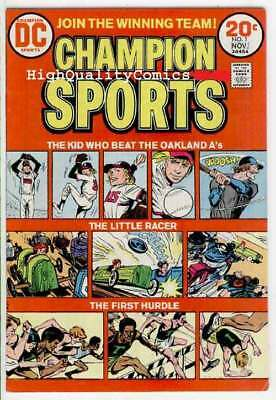 CHAMPION SPORTS #1, VF, Oakland A's, Racing,Hurdles, 1973, Bronze age
