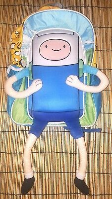 Cartoon Network Adventure Time Finn Plush with Dangling Arms & Legs Backpack NEW