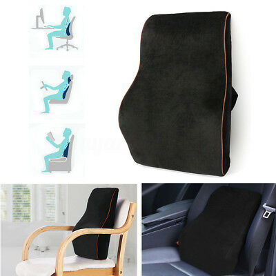 Memory Foam Lumbar Back Support Cushion Seat Pillow for Car Office Home Chair