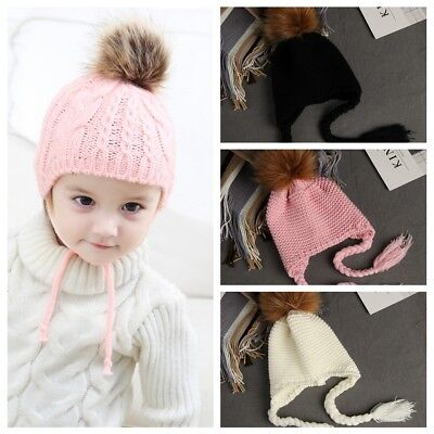 Cute Toddler Kids Girl Boy Baby Infant Winter Warm Crochet Knit Hat Beanie Cap