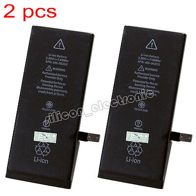 2Pcs 1960mAh Li-ion Battery Replacement With Flex Cable For Apple iPhone 7 4.7""
