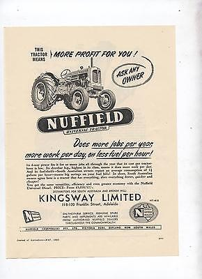 Nuffield Universal Tractor Advertisement removed from 1952 Australian Journal