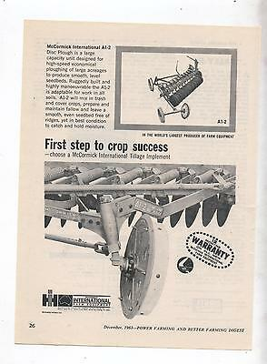 International Plough Advertisement removed from 1963 Farming Magazine Tractor