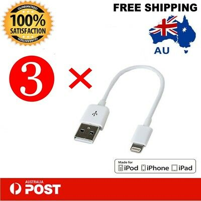 3 x Short 20cm  Apple Lightning Cable Charge iPhone iPad