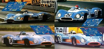 Calcas Matra MS630/650 Le Mans 1969 1:32 1:43 1:24 1:18 MS 630 650 decals