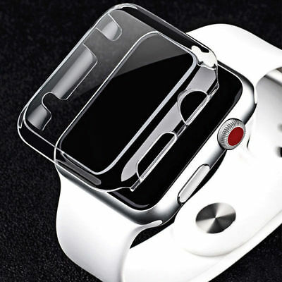 For Apple Watch Series 3 Ultra Clear Crystal Hard Snap On Case Cover 38mm/42mm~~