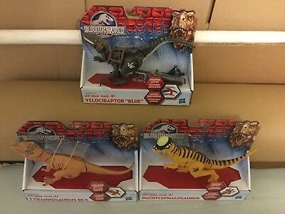 Jurassic World Velociraptor T Rex Pachycephalosaurus Action 3 Figuren Set