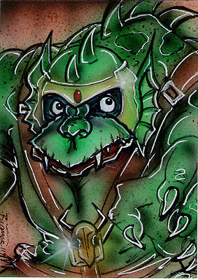 ThunderCATS Villain SLITHE Original Sketch Card Painting by Bianca Thompson