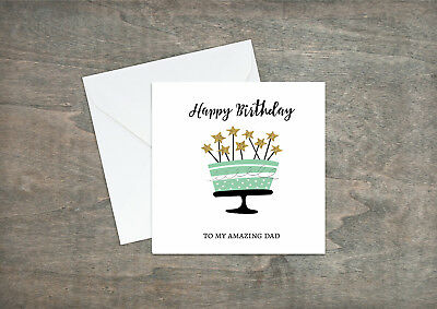 Dad Son Grandad Uncle Brother Personalised Perch Fish Fishing Birthday Card