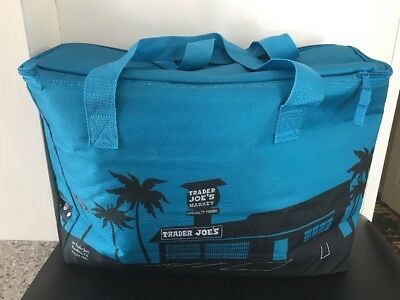Trader Joe's Blue Insulated Tote / Grocery Bag