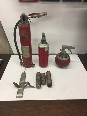 Vintage Ansul Fire Extinguisher Lot With Cartridge