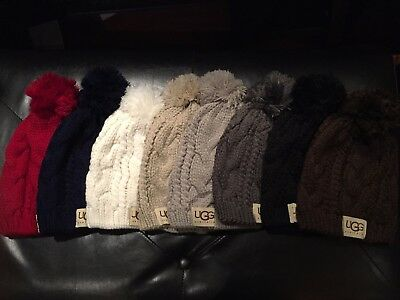*NEW* Knit Beanie Hat with Pom Pom -8 COLORS- US Seller- UGG® Brand