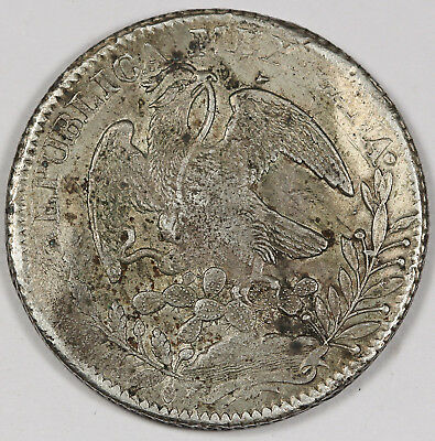 "Mexico 1838 Zs OM ""CAP AND RAYS"" 8 Reales Silver Coin VF/XF Early Date"