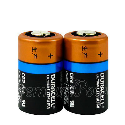 2 x Duracell Ultra Lithium CR2 batteries 3V CR17355 EL1CR2 DLCR2 Photo EXP:2026