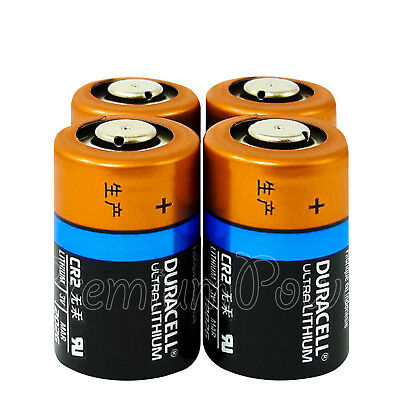 4 x Duracell Ultra Lithium CR2 batteries 3V CR17355 EL1CR2 DLCR2 Photo EXP:2026