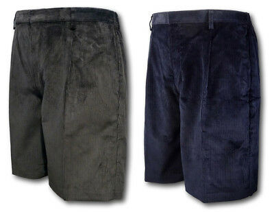 School & Scout Uniform Corduroy Short Trousers / Shorts David Luke - Grey Navy