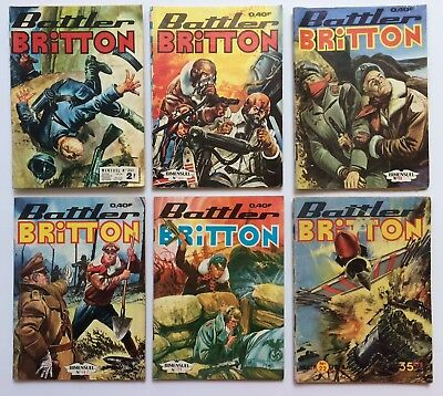 ► 6 Bd Battler Britton N° 22+98+142+147+159+351- Imperia 1960/76