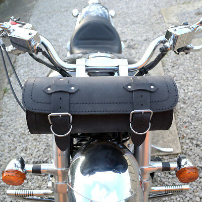 Motorcycle Large Natural Leather Tool Roll / Bag Harley Davidson Softail Dyna