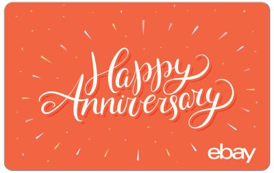 Happy Anniversary - eBay Digital Gift Card $25 to $200 - Fast Email Delivery