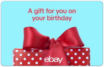 Happy Birthday Red Bow - eBay Digital Gift Card $25 to $200 -Email delivery